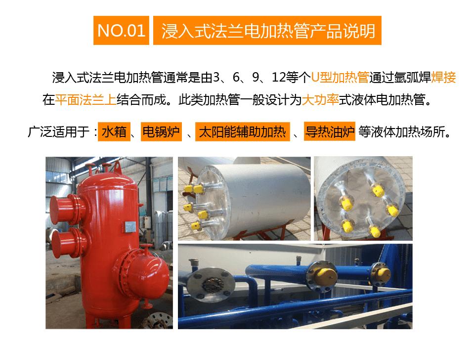水加热法兰电加热管产品说明