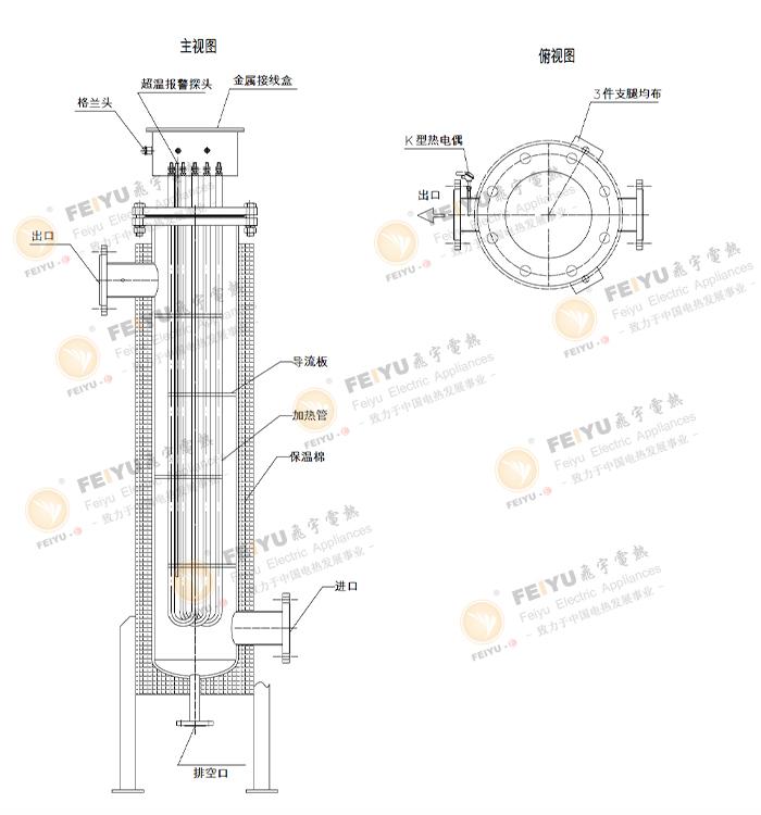 立式管道加热器结构图